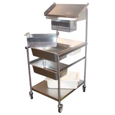 "60.25"" Full Size Mobile Bread and Batter Station"