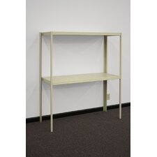 Industrial Two Shelf Retractable Shelving Unit