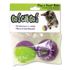 Go! Cat! Go! Play-N-Treat Twin Pack Cat Toy