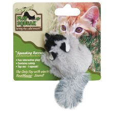 Play-N-Squeak Backyard Raccoon Cat Toy