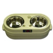 <strong>Raised Feeders</strong> Store-N-Feed Adjustable Dog Feeder