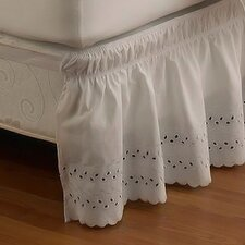 EasyFit  Wrap Around Eyelet Ruffled Bed Skirt