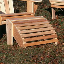 <strong>Rustic Natural Cedar Furniture</strong> Adirondack Oversized Ottoman