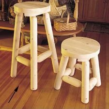 "<strong>Rustic Natural Cedar Furniture</strong> 30"" Barstool"