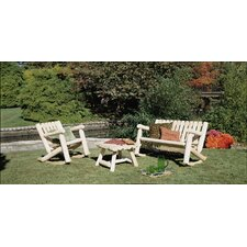 Cedar Log Rocker Seating Group