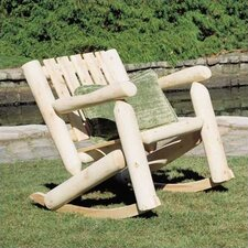 <strong>Rustic Natural Cedar Furniture</strong> Low Back Indoor / Outdoor Rocking Chair