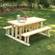 <strong>Rustic Natural Cedar Furniture</strong> Park Style Picnic Table