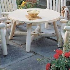 <strong>Rustic Natural Cedar Furniture</strong> Round Coffee Table