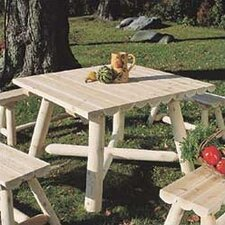 <strong>Rustic Natural Cedar Furniture</strong> Square Dining Table
