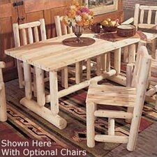 <strong>Rustic Natural Cedar Furniture</strong> Harvest Family Dining Table