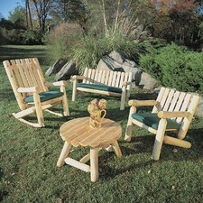 <strong>Rustic Natural Cedar Furniture</strong> Cedar Log Rocker Seating Group
