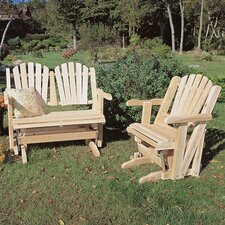<strong>Rustic Natural Cedar Furniture</strong> Glider Adirondack Seating Group