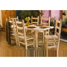 <strong>Rustic Natural Cedar Furniture</strong> 7 Piece Dining Table Set