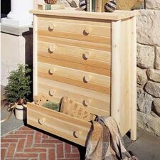 <strong>Rustic Natural Cedar Furniture</strong> Adirondack 5 Drawer Chest
