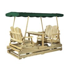 <strong>Rustic Natural Cedar Furniture</strong> Deluxe Garden Glider