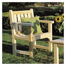 <strong>Rustic Natural Cedar Furniture</strong> English Garden Adirondack Chair