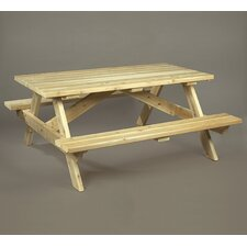 <strong>Rustic Natural Cedar Furniture</strong> Picnic Table