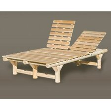 <strong>Rustic Natural Cedar Furniture</strong> Double Chaise Lounge