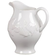 Ceramic Seashell Pitcher