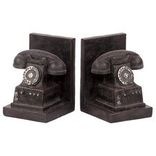 Resin Phone Bookends (Set of 2)