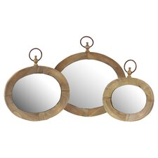 Home and Garden Accents Mirror (Set of 3)