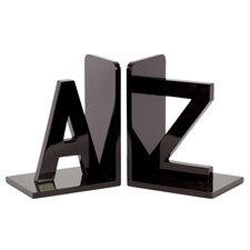 Wooden AZ Bookend (Set of 2)