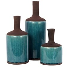Stoneware Vase Set of Three