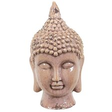 Ceramic Buddha Head Gloss Sky Blue
