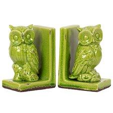 Stoneware Owl Bookend