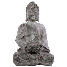 Fiberstone Sitting Buddha Statue