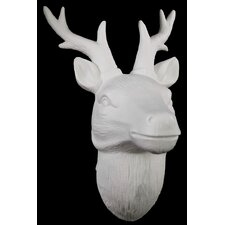 Porcelain Deer Head Wall Decor