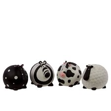 <strong>Urban Trends</strong> Ceramic Assorted Money Banks Figurine (Set of 4)