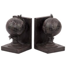 Resin Globule Bookend 2 Piece Set