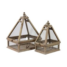 Wooden Terrarium Set of Two (Set of 2)