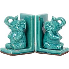 Stoneware Elephant Bookend (Set of 2)