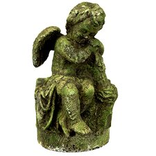 Stoneware Cherub Figurine