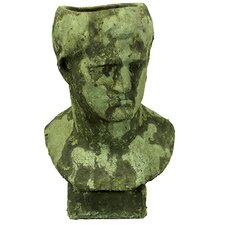 Stoneware Man Head Planter