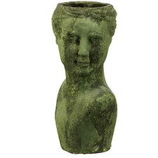 Stoneware Woman Head Planter