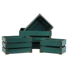 4 Piece Wooden Storage Box (Set of 4)