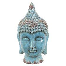 Ceramic Buddha Head Gloss Sky Blue