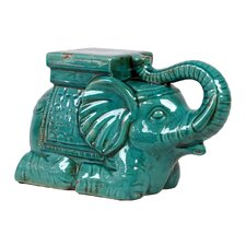 Ceramic Elephant Antique Green