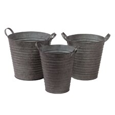 Metal Container Set of Three (Set of 3)