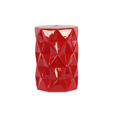 Ceramic Diamond Garden Stool