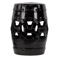 Ceramic Garden Stool Black