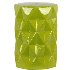 Ceramic Stool with Polyiamond Design Gloss Amber