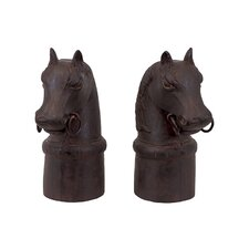 <strong>Urban Trends</strong> Resin Horse Bookend Set of Two (Set of 2)