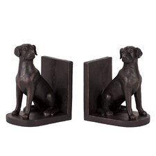 Resin Dog Bookend (Set of 2)