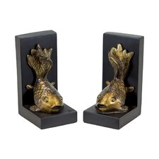 Resin Fish Bookend (Set of 2)