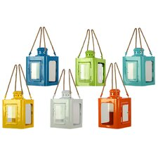 6 Piece Metal Lantern Set