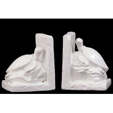 <strong>Urban Trends</strong> Ceramic Sea Turtle Book Ends (Set of 2)